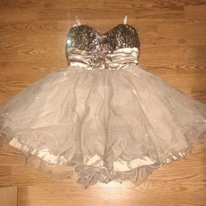 Gold dress for homecoming